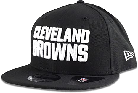 9de59b1422c Image Unavailable. Image not available for. Color  New Era Cleveland Browns  Hat NFL Black White 9FIFTY Snapback Adjustable Cap Adult One Size