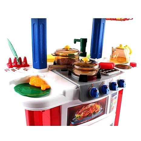 Amazon.com: deAO Happy Little Chef cocina de juguete con luz ...