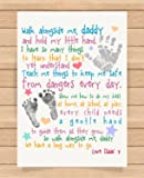 Personalised Presents Gifts For Daddy Dad Father From Son Daughter Newborn Toddler Kids Poem 1St First Fathers Day Birthday Christmas Xmas Walk Alongside Me Daddy Poem Prints Posters Wall Art