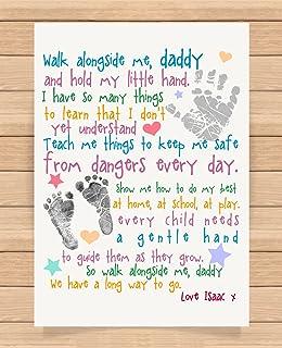 Daddy Photo Frame Oak Finish 20 X 8 Inch Fathers Day Birthday Gift