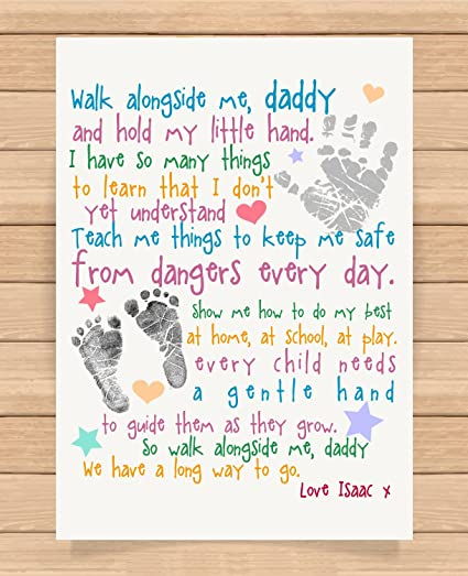 Personalised Presents Gifts For Daddy Dad Father From Son Daughter Newborn  Toddler Kids Poem 1St First Fathers Day Birthday Christmas Xmas Walk