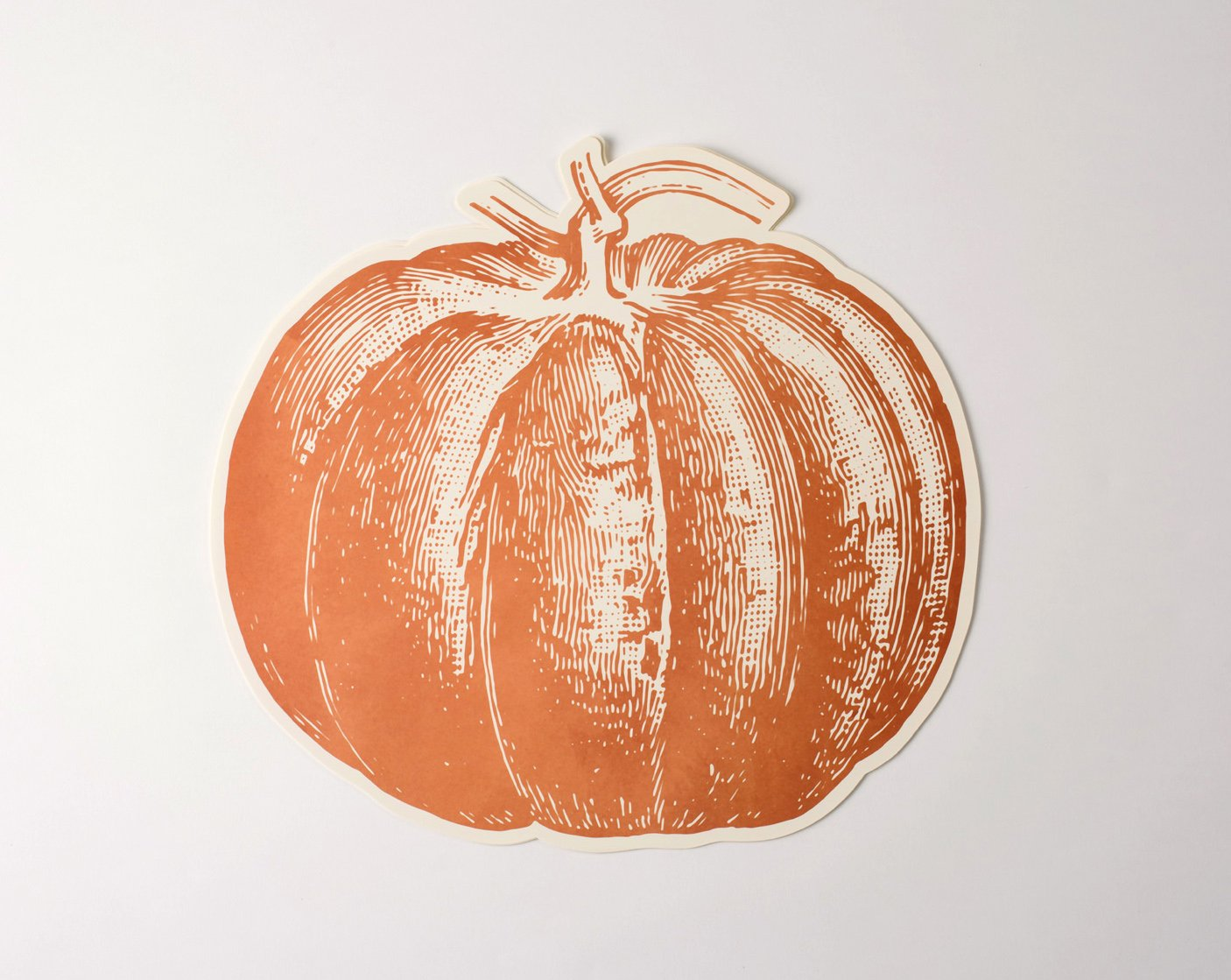 Die Cut Pumpkin Paper Placemat Set of 12 American Made
