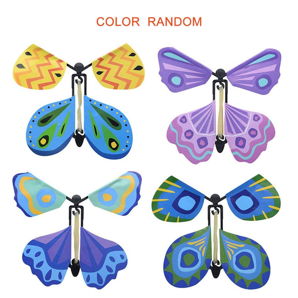 JullyeleFRgant Créatif Volant Papillon Roman Enfants Accessoires Magiques Jouet pour Enfants Drôle Jeux Gadgets Jouet Éducatif Couleur Aléatoire