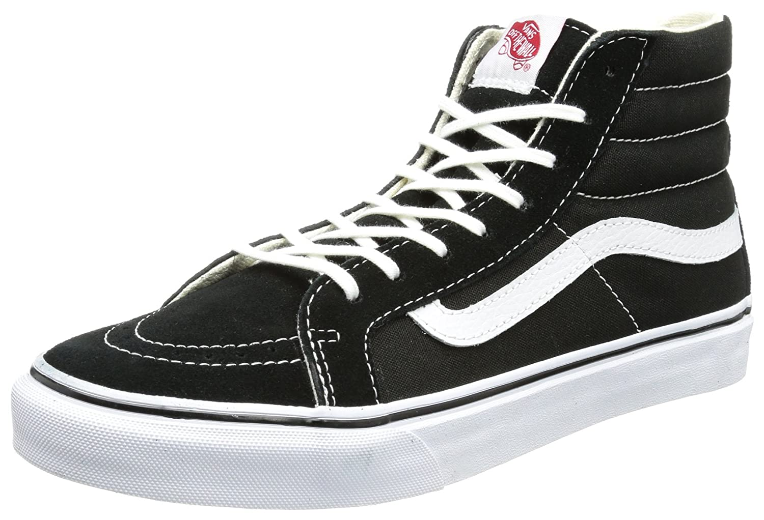 Vans Unisex Sk8-Hi Slim Women's Skate Shoe B07DN3SKGM 41 M EU / 10 B(M) US Women / 8.5 D(M) US Men|Black/White