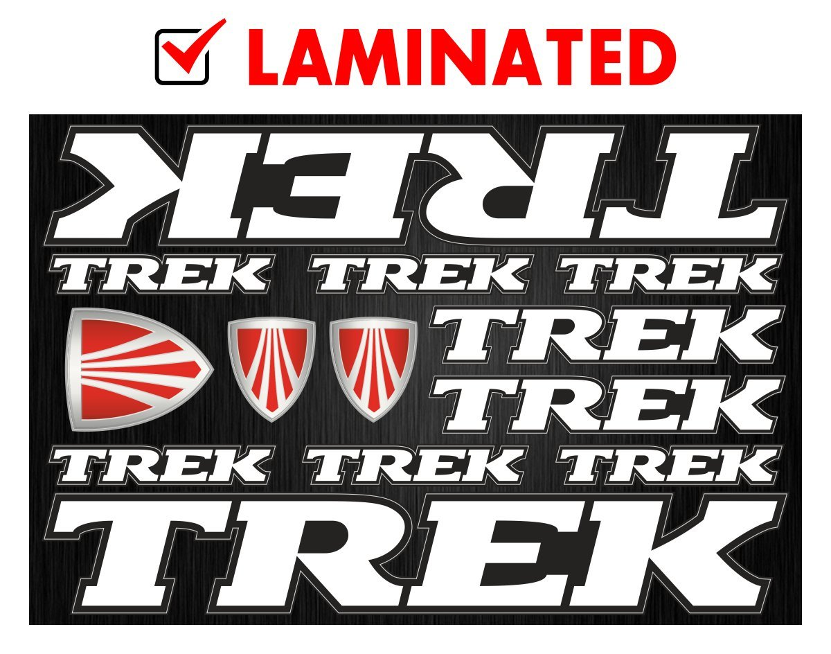 Amazon com topbikedecals trek decals stickers bicycle frame heavy duty replacement graphic set 1 sports outdoors