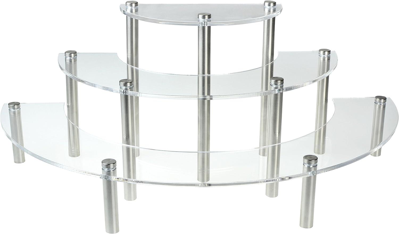 3-12 High Back-lit Clear Acrylic Cradle Display