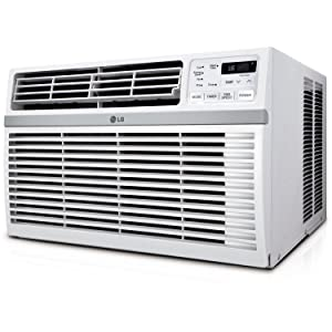 LG LW1816ER 18,000 BTU 230V Window-Mounted Air Conditioner, White