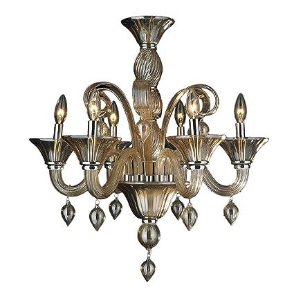 Amazon worldwide lighting murano collection 6 light blown glass worldwide lighting murano collection 6 light blown glass in amber finish venetian style chandelier 23quot aloadofball Gallery