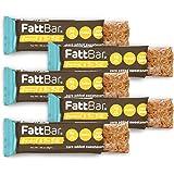 FattBar Keto Bar (Caramel & Sea Salt, 5-Pack)   Natural and Delicious Keto Snacks   Low Net Carb, High Fiber, Low Sugar, Keto