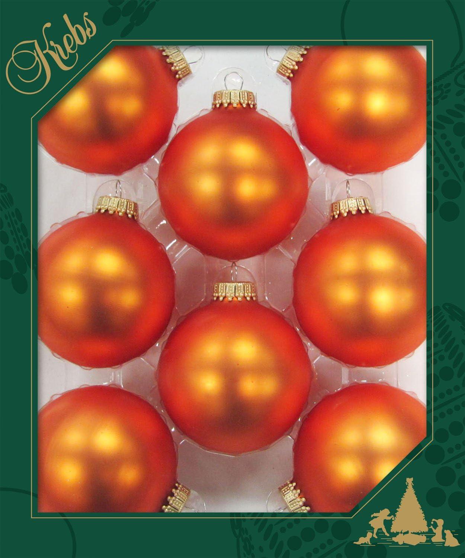 6,7/cm Orange Lot de 8/boules marron//orange//dor/é
