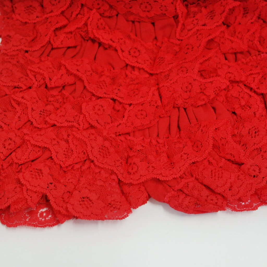 Small, Red Petti Pants Lace Ruffled Pants for Babies and Girls