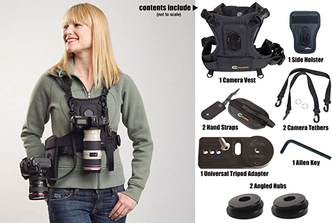 Cotton Carrier Vest And Holster For 2 Cameras Camera Photo