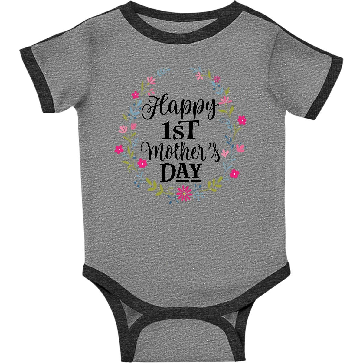 fd31991be Amazon.com: inktastic - Happy 1st Mothers Day Outfit Girls Infant Creeper  2f629: Clothing