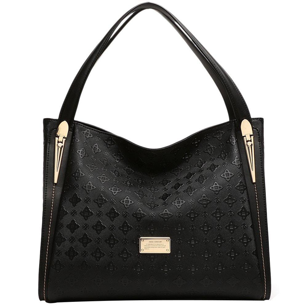 ANA LUBLIN Women Ladies Tote Bag Genuine Leather Handbag Top Handle Purse