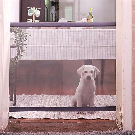 quanjucheer Puerta de Seguridad para Mascotas, Mágica, Malla Protectora de Seguridad para Perros y