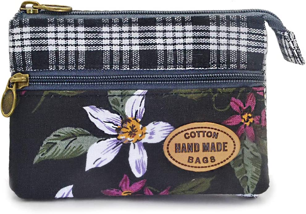 Flower Frame Purse Gift Ideas Linen Pencil Case Star Key Ring Embroidery Purse Sunflower