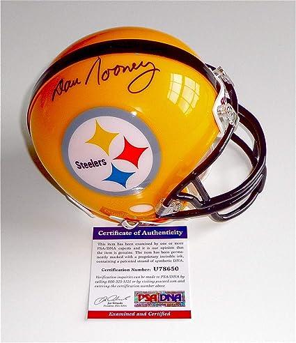 3a78ad29f Amazon.com: Dan Rooney Autographed Signed Pittsburgh Steelers Mini Helmet  Memorabilia PSA/DNA COA U78650: Sports Collectibles