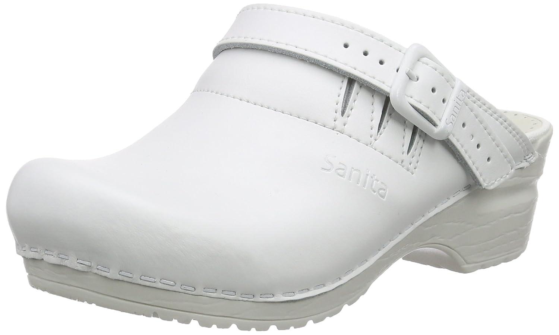 Sanita San-Flex Open-OB, Zuecos Unisex Adulto 36 EU|Blanco (White 1)