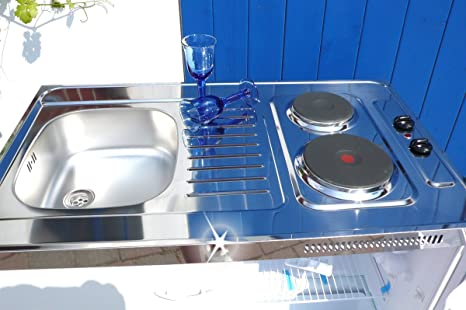 Miniküche 120 Cm Breit Mit Kühlschrank : Singleküche pantryküche 100 cm weiß miniküche büroküche kochplatte
