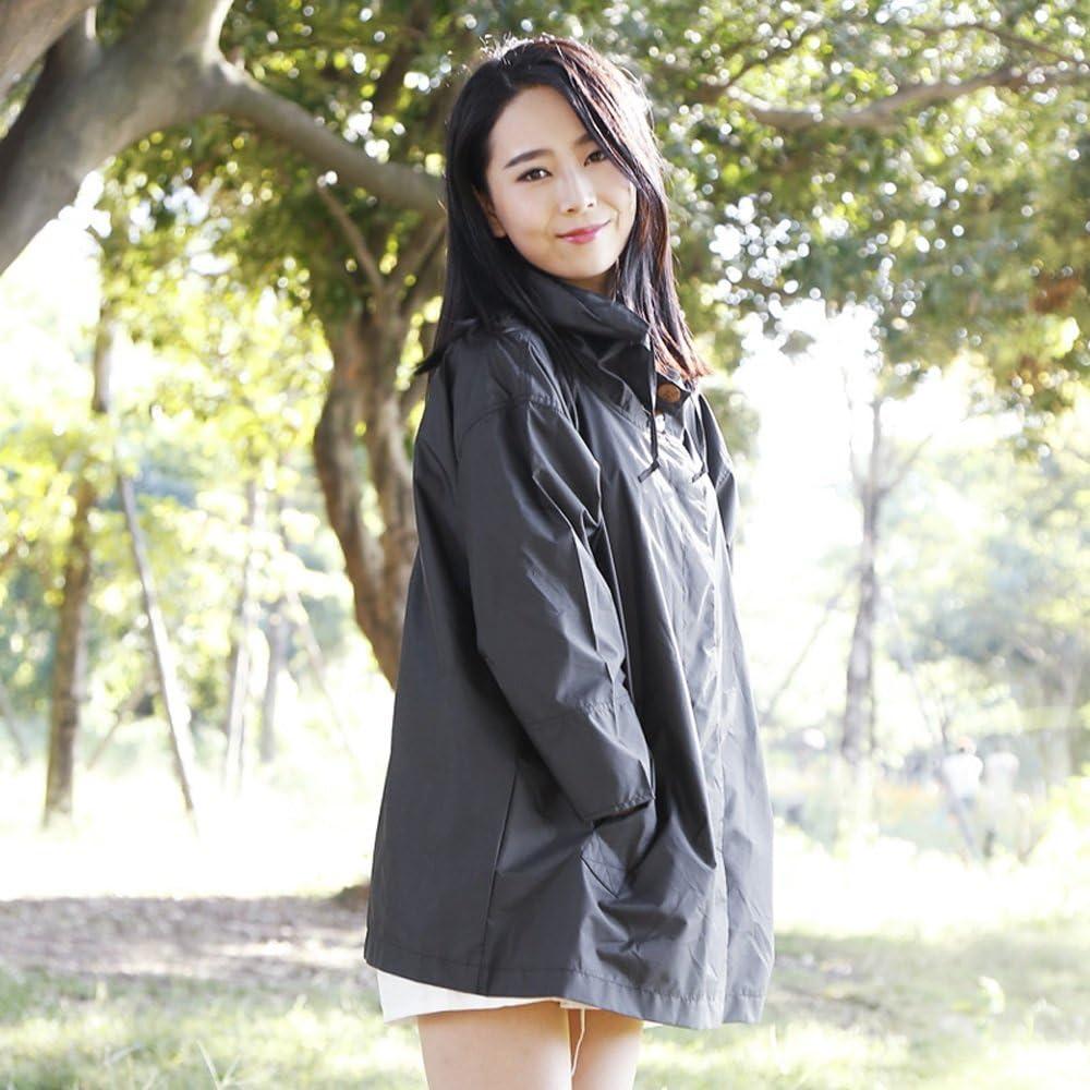 XING-ZI-raincoat C-K-P Impermeabile per Adulto Lady Top Mantello Outdoor Escursionismo Escursionismo Poncho Traspirante Taglia (M) Nero (Colore : Black-M) Black-m