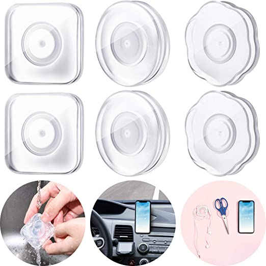 Office Storage of Various Small Device and Items Home 4 Packs Nano Casual Paste Phone Holder Nano Magic Stickers Nano Gel Pad PU Material Reusable Traceless Nano Sticker for Car