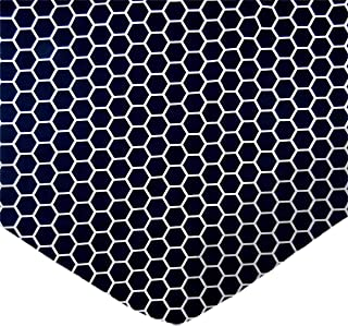 product image for SheetWorld Fitted Cradle Sheet - Navy Honeycomb - Made In USA