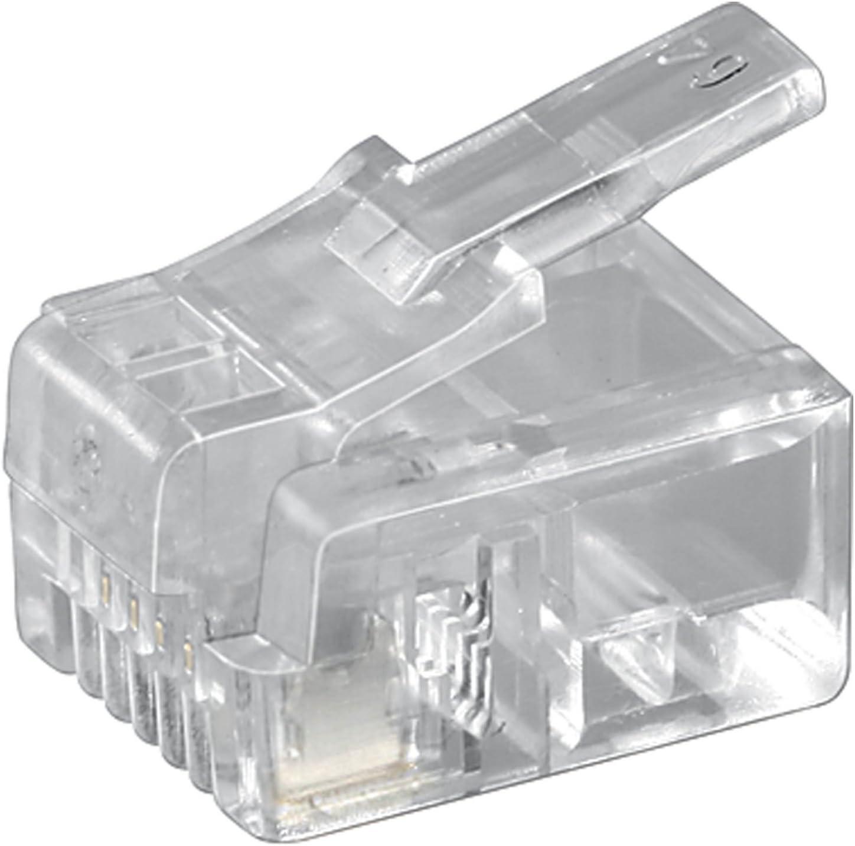 10 Stück Wentronic Westernstecker Für Rundkabel Computer Zubehör