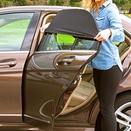 IC ICLOVER Car Windshield Sunshade    5 Pcs  Mesh Sun Shades for Side  Windows Front Resr Side Auto Window Sun Visor Set - Protect Children and  Pets from Sun ... c02dda36361