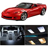 cciyu Replacement fit for 1997-2004 Chevy Corvette C5 Interior LED Light Package Kit 10