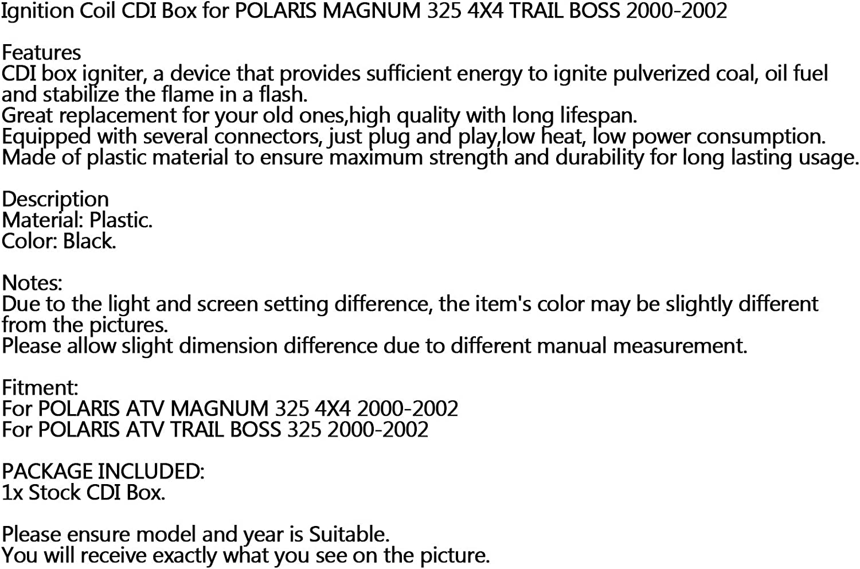 Areyourshop CDI IGNITER CDI Box Ignition FITS for POLARIS MAGNUM 325 4X4 2000 2001 2002 New ATV