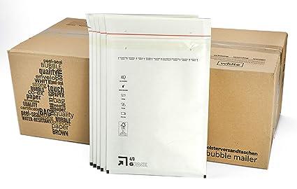 com-four® Bolsas de colchón de Aire 100, Bolsas de envío tamaño D/4 (para DIN A5) con perforación y Cierre Adhesivo Sensible a la presión (D / 4-100 ...