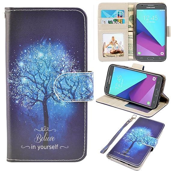 size 40 308a4 07e9b Samsung Galaxy J3 Emerge Case, J3 2017 Case, J3 Prime Case, Amp Prime 2  Case, UrSpeedtekLive J3 Emerge Wallet Case, Premium PU Leather Flip Case  Cover ...