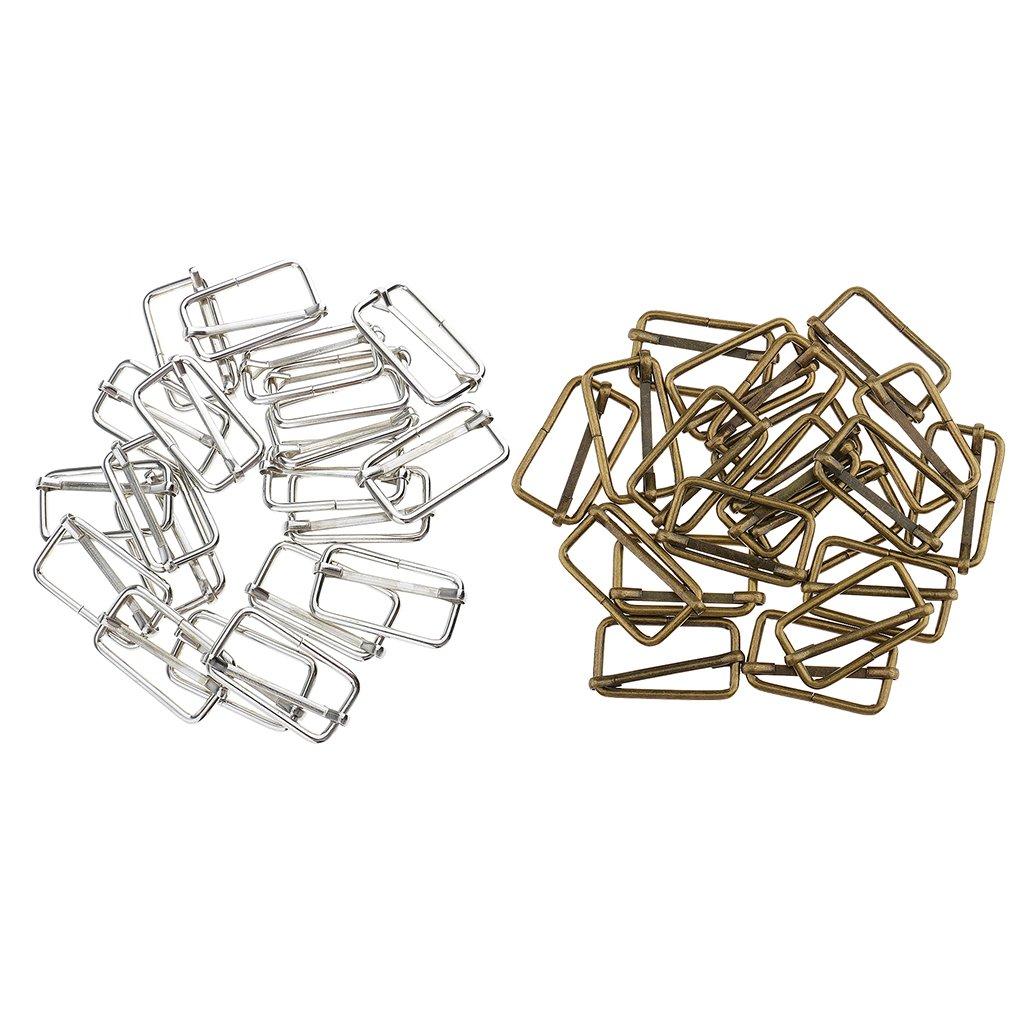 40pcs Conector Clip Hebillas Ajustable Correa Fabricar Bolsos Bricolaje Grandes Accesorios 32x16x2.8mm
