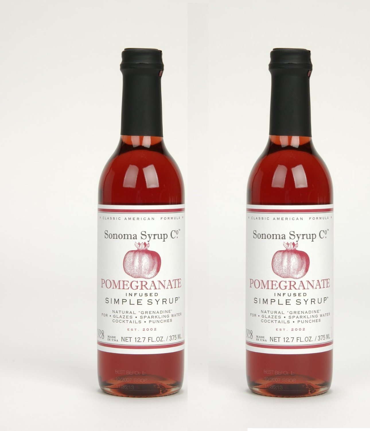 Sonoma Syrup Pomegranate Simple Syrup 12. 7oz 2 Pack (2) by Sonoma Syrup Co.