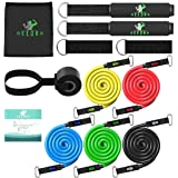 Deedro Resistance Bands Set 13 Pieces Exercise Tube Bands, Resistance Loop Band, Door Anchor, Ankle Straps Resistance Training, Home Workouts,Physical Therapy,Strengthening Muscle.