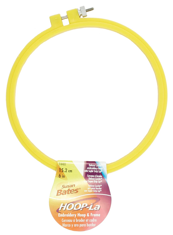 Hoop-La Plastic Embroidery Hoop 7- Assorted (Pack Of 6) - Color May Vary Susan Bates 14401.007