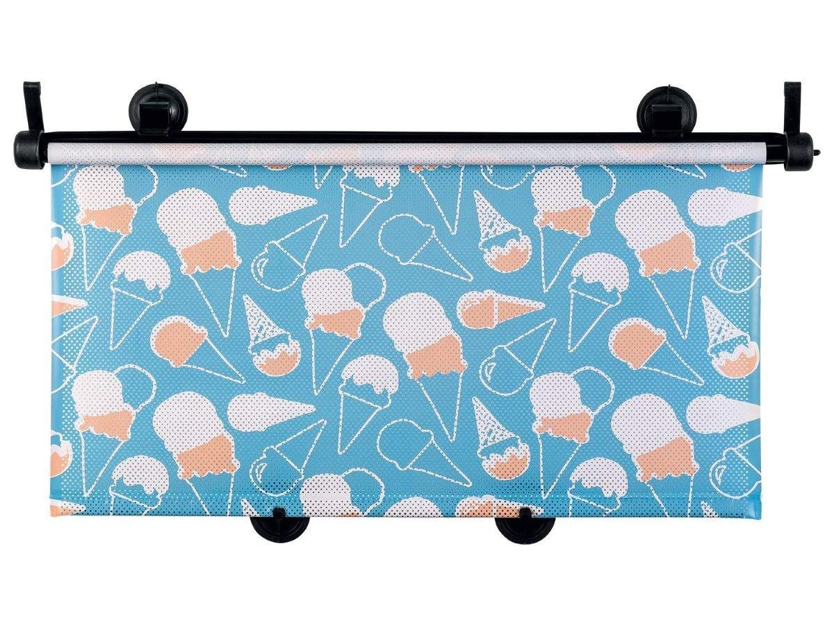 Auto Sonnenschutz Rollo Autofenster Sonne Schutz Blende 53 x 52 cm Motiv Eis