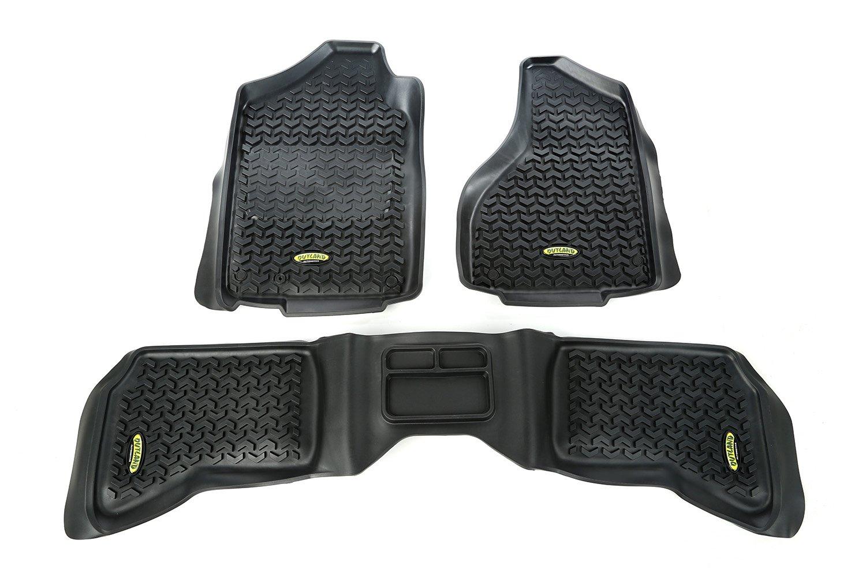 Outland 398298940 Black Front and Rear Floor Liner Kit For Select Dodge Ram Models Outland Automotive
