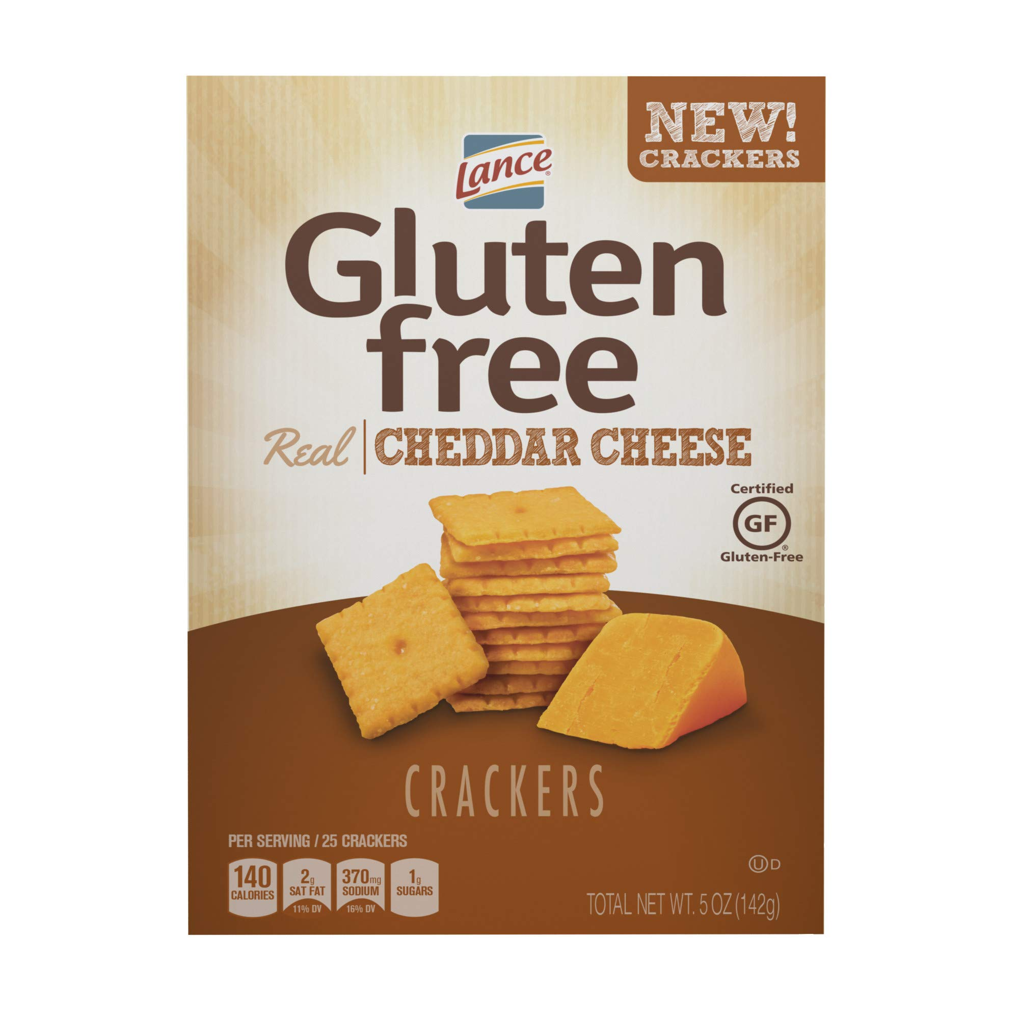 Lance Gluten Free Crackers, Cheddar Cheese, 5 Ounce by Lance