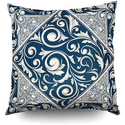 Amazon.com: XMas Vintage Ornate Monochrome Decorative Throw ...
