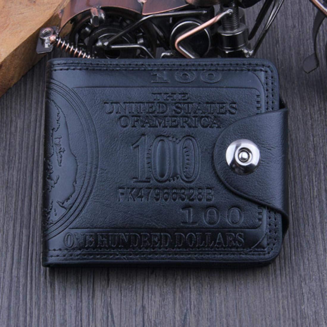 fbf941fc9 Hombre BaZhaHei-Cartera Carteras Hombre Billetera de dó lar Estadounidense Billetera  Billetera Billetera Cuero marró n ...
