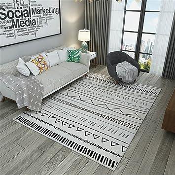 tapis moderne pour salon motif triangle noir et blanc tapis frontalier pour salle - Tapis Moderne