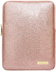 """9-11Inch Tablet Sleeve Bag Case, Glitter PU Leather Pouch Cover Cases for iPad 10.5"""" 2019, iPad Pro 11 2018, iPad 9.7, Samsung Galaxy Tab, Surface Go 10"""" 2018-Rose Gold"""