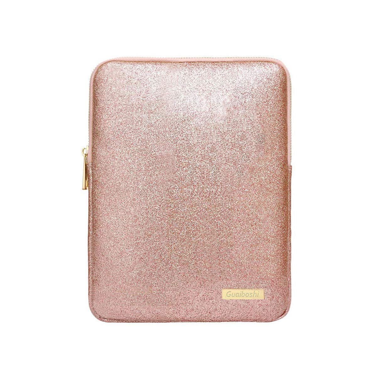 9-11Inch Tablet Sleeve Bag Case, Glitter PU Leather Pouch Cover Cases for iPad 10.5'' 2019, iPad Pro 11 2018, iPad 9.7, Samsung Galaxy Tab, Surface Go 10'' 2018-Rose Gold by Devmlicor