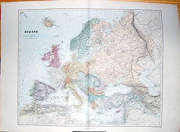 Karte Italien Frankreich.Stanford Karte Europa 1904 Frankreich Spanien Italien Griechenland