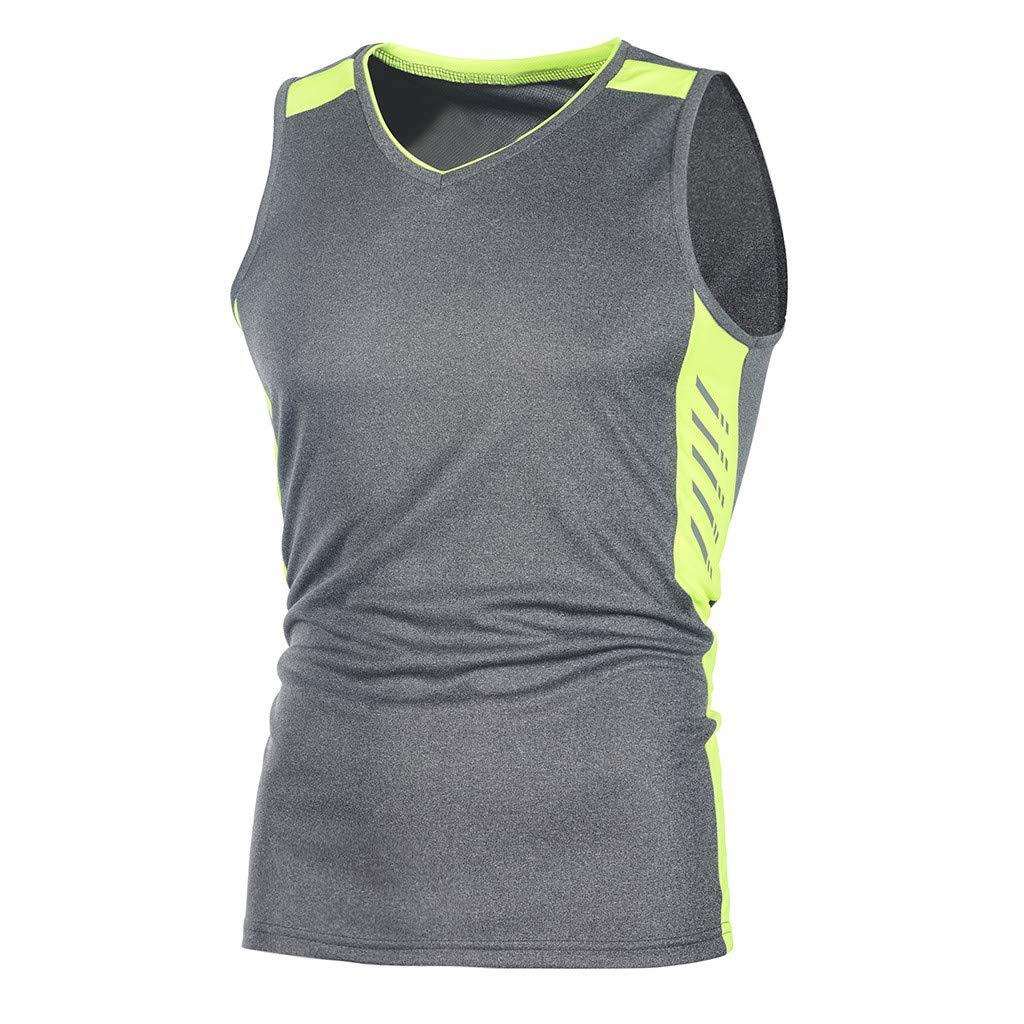 Palarn Mens Fashion Sports Shirts Fashion Mens Casual Slim Sleeveless Tank TOP T Shirt Top Blouse