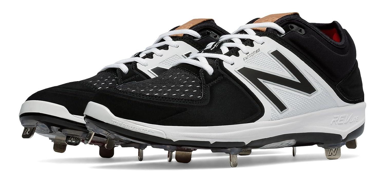 (ニューバランス) New Balance 靴シューズ メンズ野球 Low-Cut 3000v3 Metal Cleat Black with White ブラック ホワイト US 7.5 (25.5cm) B01J5BV13Y
