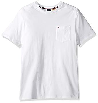 af61bd861bf3 Tommy Hilfiger Men's Adaptive Pocket T Shirt with Magnetic Buttons at  Shoulders, Bright White,
