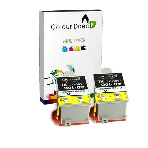 2 X Single Advent Compatible Tri-Colour ACLR10 Ink Cartridge. 2 X Colour