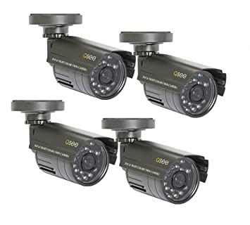 Q-See QM4803B 4-pack CCTV security camera Interior y exterior Bala Negro -
